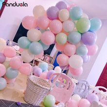 birthday party decorations 18 macarons candy color balloons balloons princess balon 1 anniversaire decoration macarons ballons(China)