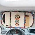 Estilo boemia Frisado Mei Mei Urso CD Carro Cobre Multi função pala de sol Tecido De Linho Saco de Armazenamento de Veículos Universal Fit Car SUV