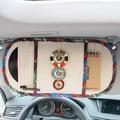 Mei Mei CD Del Coche Del Oso del Estilo de bohemia Con Cuentas Cubre Multi función visera de sol Tela de Lino Bolsa de Almacenamiento Universal Fit Car SUV Vehículo