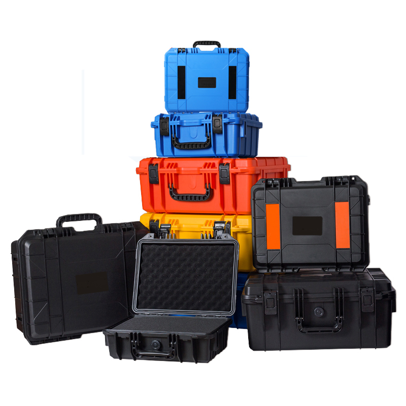 New Arrivals ABS Plastic Sealed Tool Box Safety Equipment Camera Toolbox Impact Resistant Dry Box Shockproof W Foam Four Colors