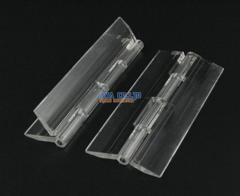10 pieces clear acrylic plastic hinge plexiglass hinge size 100x42mm in cabinet hinges from. Black Bedroom Furniture Sets. Home Design Ideas