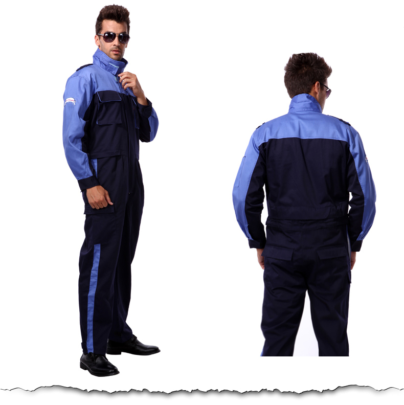 SPARDWEAR Men's construction work uniform carpenter workwear blue black working coveralls jumpsuit free shipping цена