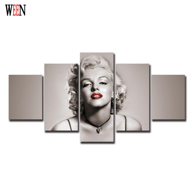 Marilyn Monroe Immagini Decorative 5 Pz Moderna Parete Quadri Su ...
