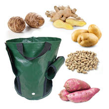 Garden Bag Potato Grow Planter Container Bag Pouch Root Plant Growing Pot Side Window 40cmX40CM Planting Grow Bag Hot New F14(China)