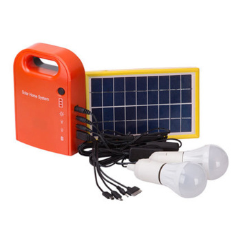 Portable 3W Solar Panel Energy System Battery Charger Camping Fishing LED Emergency Lighting System