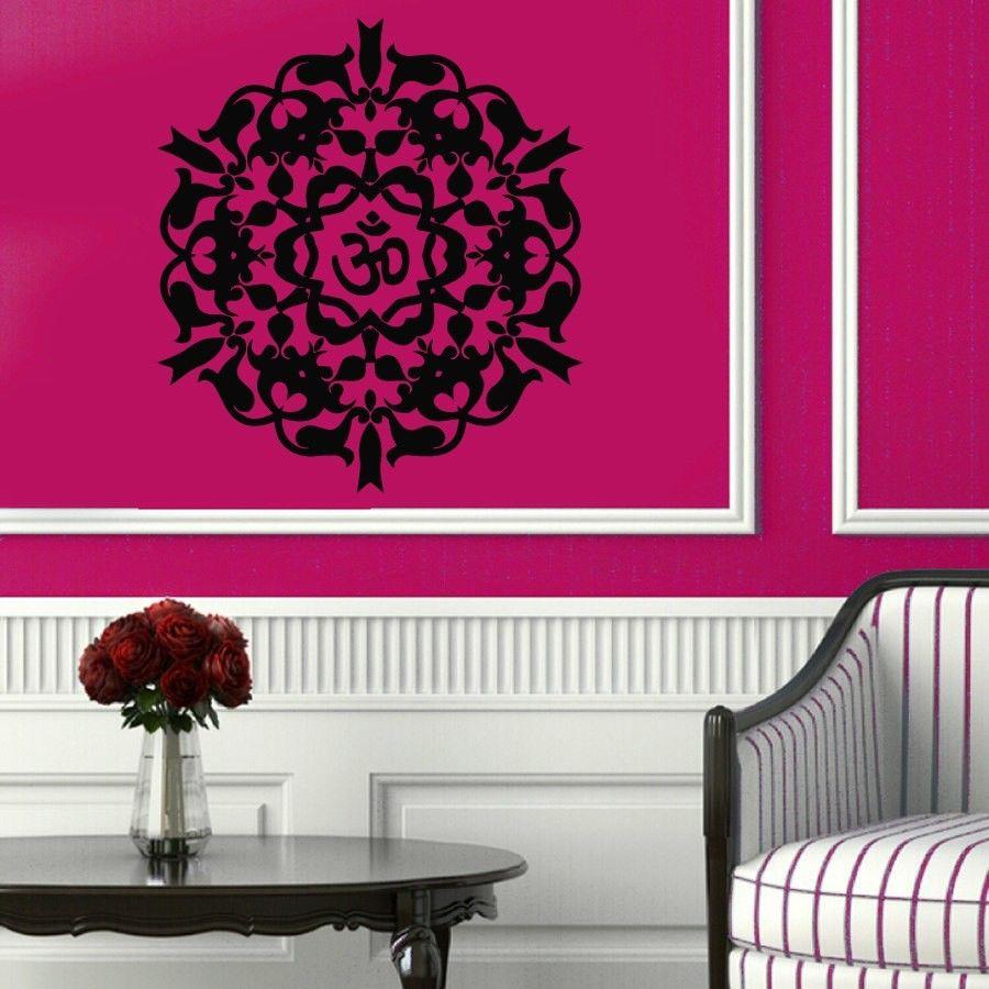A50.5 Mascot Mantra Mandala Mantra Chakra Meditation Yoga Om DIY wall stickers home decor vinyl mural Poster paper wall decor