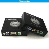Charmvision EKP200HR 200 м PS/2 kvm удлинитель за UTP STP Cat5E Cat6 кабель с Мощность коммутатора для CCTV удаленный Управление решение
