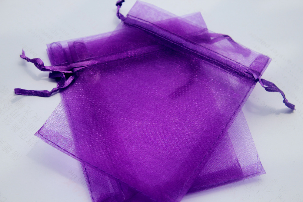 Whole 100pcs Lot 13x18cm Dark Purple Organza Bags Jewelry Wedding Gift Pouches In Packaging Display From Accessories On