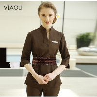 Viaoli White Lab Coat Medical Coat Nurse Services Clothing Long sleeve Medical Scrubs Clinical Medico Hospital Work Wear Uniform