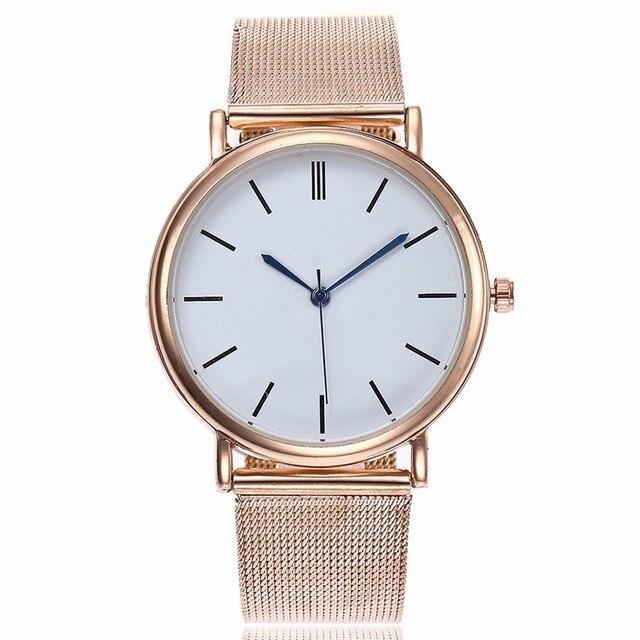 CCQ Brand Fashion Women Gold Silver Quartz Watch Casual Ladies Stainless Steel W