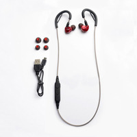OKCSC Wireless Bluetooth 5.0 Headphone MMCX Interface DIY Cables With Mic Button Control HiFi Ear Hook for Sport Phone 8/X