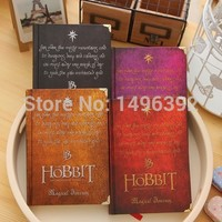 Free Shipping Hobbit Vintage Notebook Stationery Diary Book Color Paper High Quality Notepad School Supplies