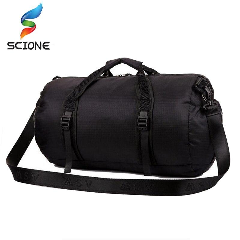 2018 Водонепроницаемый сумка бренд muliti-функциональный спортивные сумки бренда мужские дорожные сумки Складная Сумка спортивная SAC основной большая емкость
