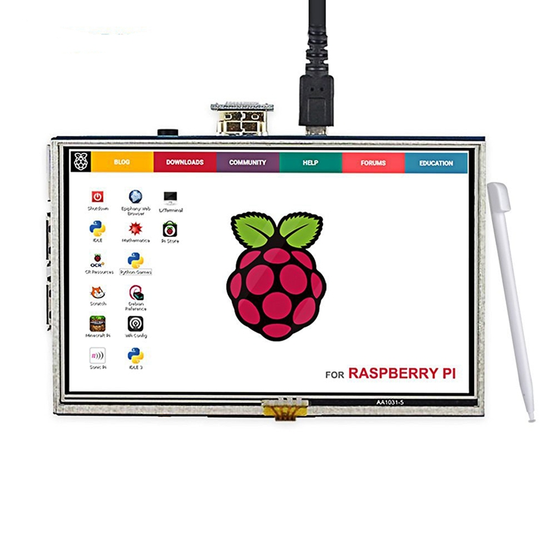 Elecrow LCD 5 Inch Raspberry Pi 3 Display Touch Screen HDMI 800x480 5 Monitor TFT with