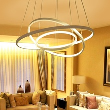 New LED art ring chandelier 3 2 1 ring aluminum ring acrylic chandelier LED home commercial