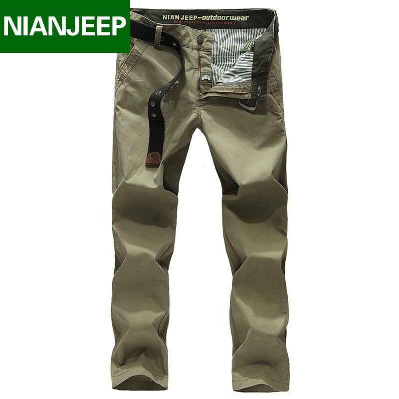NIAN JEEP Brand Clothing Quality Summer Style Khaki Joggers Mens Khaki Pants Pants Men Joggers Pants Cotton Long Trousers 67
