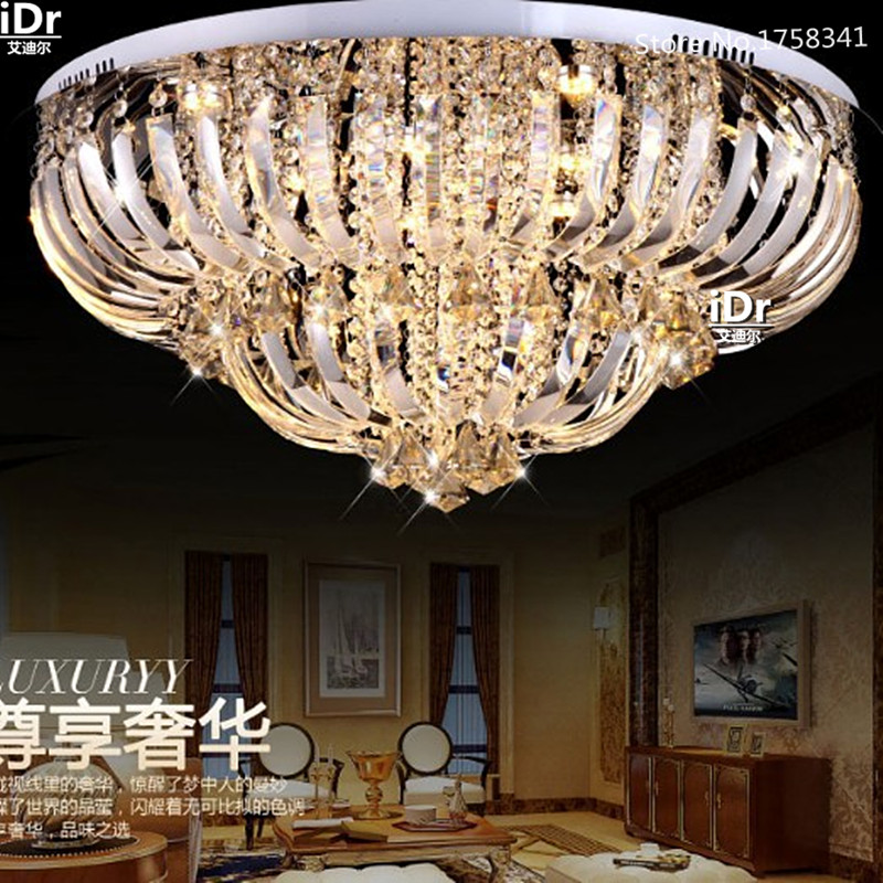 upscale atmosphere led ceiling light modern lighting crystal brilliance new luxury dimmable hall lamps