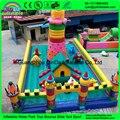 Castillo inflable, inflable castillo hinchable, gorilas inflables comerciales usados para la venta