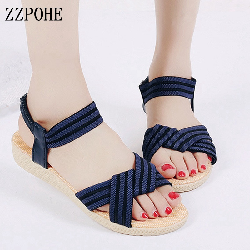 ZZPOHE Woman Shoes 2018 Summer New Fashion Bohemia Women's Flats Casual Sandals Female Comfortable Flip Flops Beach Sandals 3