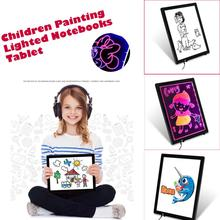 Wholesale 14 Inch Children Painting Lighted Notebooks Tablet ABS Writing Graphics Board Z1102