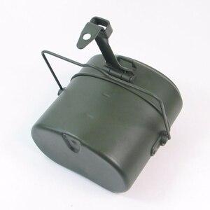 Image 4 - WWII allemagne militaire vert 3 pièces en 1 Camping batterie de cuisine ensemble de cuisine randonnée survie Bento boîtes à déjeuner Pot/bol