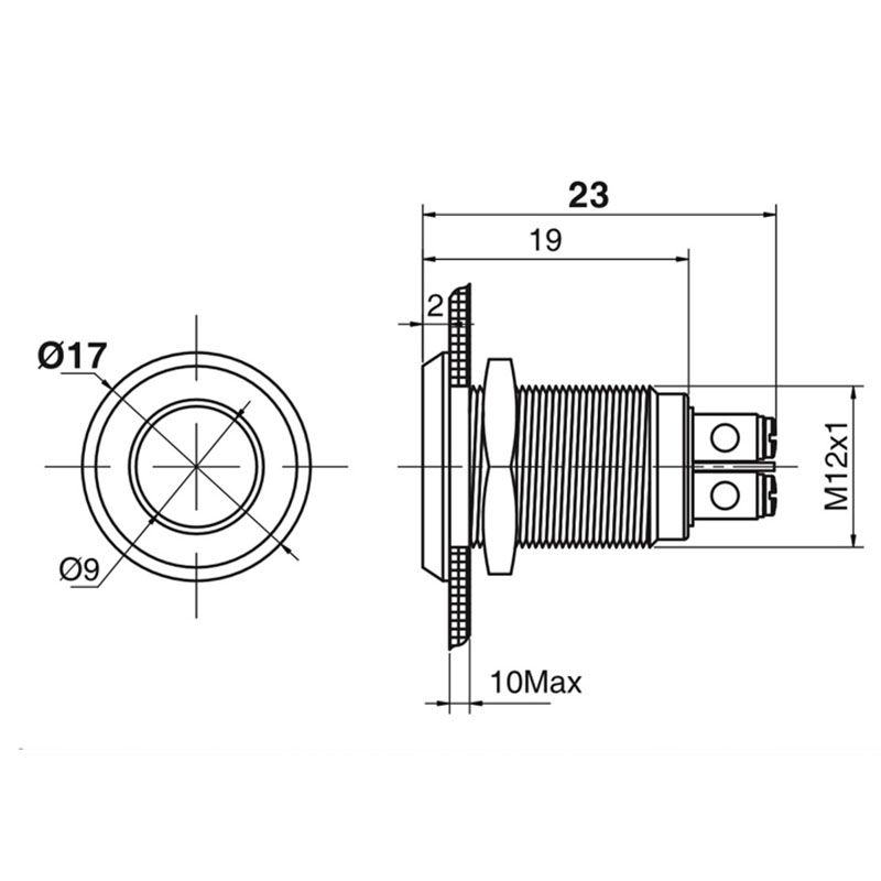 10 PCS LED metal lampa 12 mm metal işıq xəbərdarlıq edən - Professional işıqlandırma məhsulları - Fotoqrafiya 3