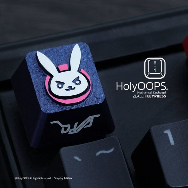 Dva Pink Color 3d Aluminuim Key Cap D hfsecurity Va Keycaps For Mechanical Keyboard