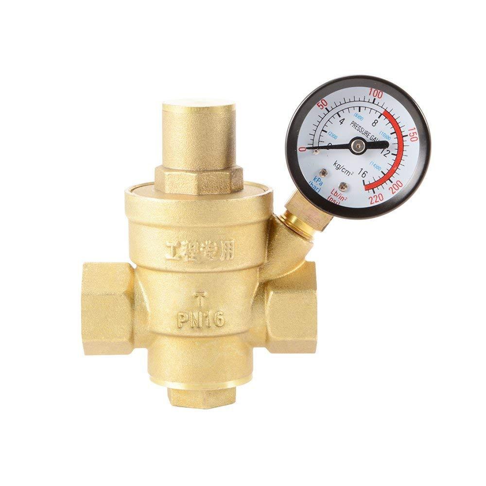 цена на Water Pressure Regulator Brass Lead-free Adjustable 3/4