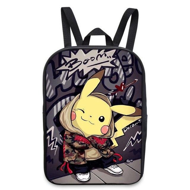 scarpe sportive 535ac e4c38 US $16.65 |Anime Pokemon Zaino Ragazzi Ragazze Sacchetti di Scuola Dei  Bambini Pikachu Zaino Per Gli Adolescenti Regalo Dei Capretti Zaini Zaini  ...