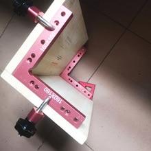 Алюминиевый квадратный прямоугольный 90 градусов l-образный вспомогательное крепление деревообрабатывающий позиционирование линейка циркуль Деревообрабатывающие инструменты