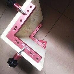 Aluminium kwadratowych kąt prosty 90 stopni w kształcie litery L pomocniczy uchwyt do obróbki drewna pozycjonowanie linijka miernik do pomiaru narzędzia do obróbki drewna w Zestawy narzędzi ręcznych od Narzędzia na