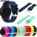 22 мм Спорт Силиконовые Часы Группы Ремешок для Samsung Galaxy Gear S3 Классический SM-R770 S3 Границы SM-R760 SM-R765 Smart Watch