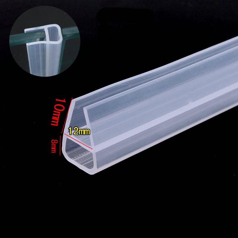 12mm Glas Kollision Vermeidung Dichtung Zugluft Silikon Abdichtung Streifen Automatische Schiebe Schärpe Dusche Tür Fenster Dichtungen 1 Mt üBerlegene Materialien
