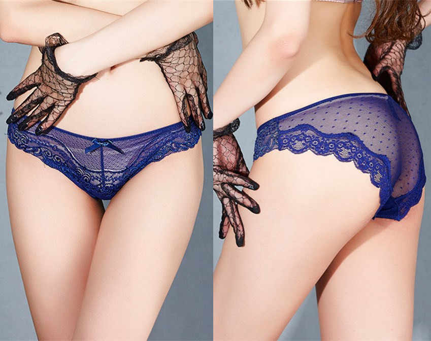 f6632ef31d99 NITALY Big Size Sexy Lace Panties Women's Underwear Sheer Lace Briefs  Knickers Soft Boxer Dot Mesh