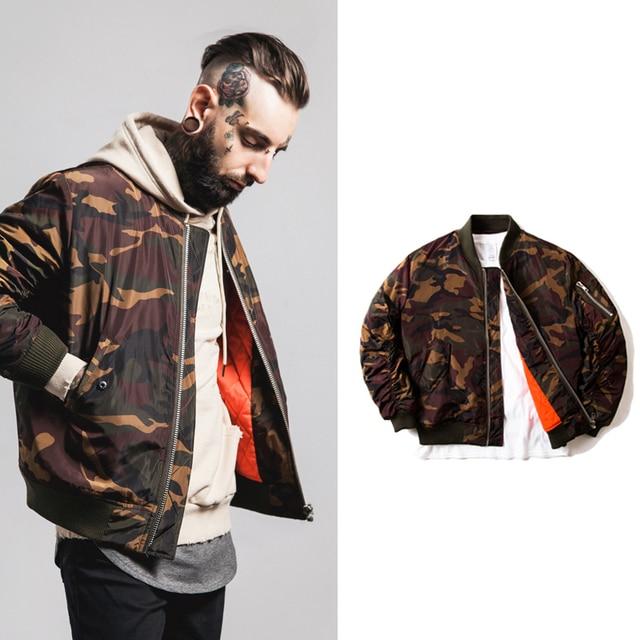2016 Men Jacket Camouflage MA-1 Jacket air force Suit Style Coat Cotton hiphop Rap Rock Kanye Jackets Scimitar Design TC417