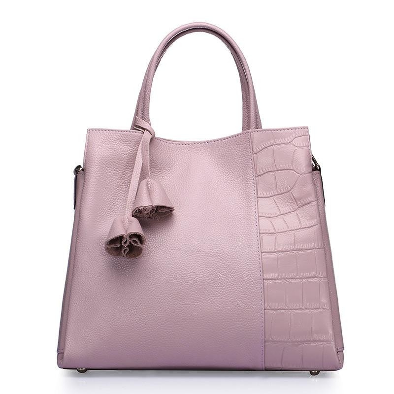 fashion women alligator genuine leather handbag famous designers vintage shoulder bags black