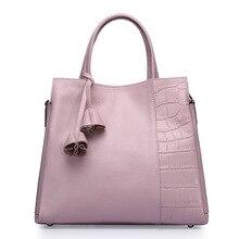 2017 fashion women alligator genuine leather handbag famous designers vintage shoulder bags black shoulder female message bag