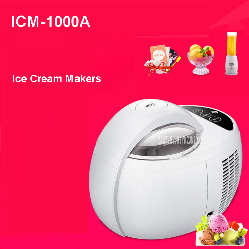 ICM-1000A 220 V/50 Hz home automated mini intelligent family 110W ice cream machine self-cooling ice cream makers 1000ml mt 250 italiano pasta maker mold ice cream makers 220v 110v 250ml capacity ice cream makers fancy ice cream embossing machine