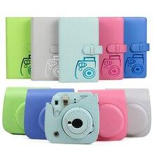 حافظة واقية مقاوم للماء بولي Leather حقيبة جلدية مع حزام الكتف 96 جيوب ألبوم صور للكاميرا فوجي فوجي فيلم Instax Mini 9/8/7s
