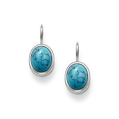 Turquoise Clip Earrings,Thomas Style Glam And Soul Good Jewelry For Women,2015 Ts Gift In 925 Sterling Silver,Super Deals