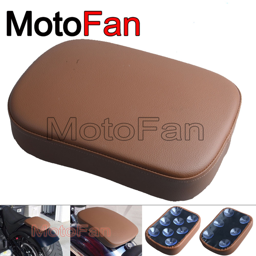 Custom Motorcycle Seats Pillion Pad Suction Cup Seat Cushion Rear Passenger Saddle for Harley Chopper Triumph Ducati MV Agusta