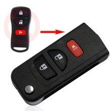3 Кнопки Флип Брелок Дистанционного Складной Ключ Автомобиля Shell Крышка Случая для Nissan Infiniti Автомобиль Случае Ключ Uncut Клинок Стиль С Логотипом