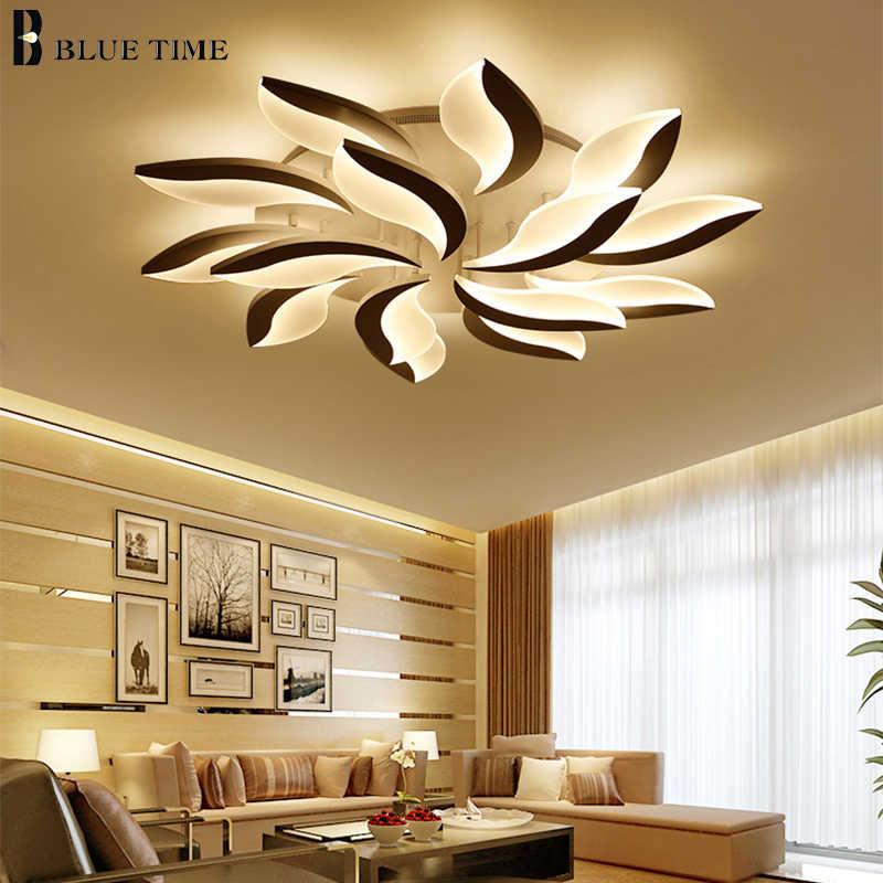 Белый акриловый светодиодный светильник 110V 220V Современная Потолочная люстра освещение для гостиной спальни столовой Lamparas de techo