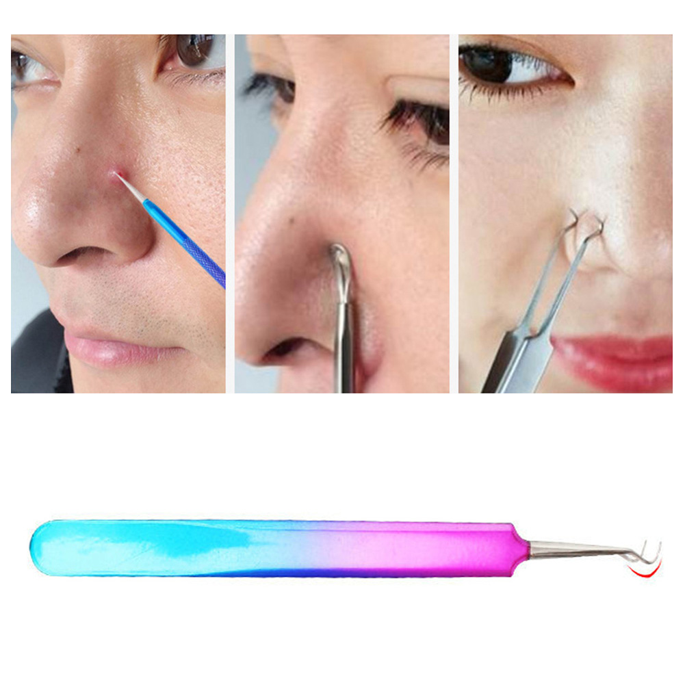7pc/bag Stainless Steel Double Head Pick Acne Acne Tool Acne Needle Acne Needle Beauty Tools Cosmetic Tool