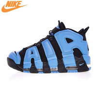 Nike Air More Uptempo Men Running Shoes, Pippen Big Air Obsidian Blue, Quickly Vents Perspiration 921948 400