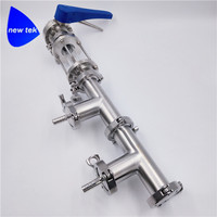 """1"""" Tri Clamp Beer Manifold Keg Filler w/ Butterfly Valve SS304 Stainless Steel 2 Ports"""