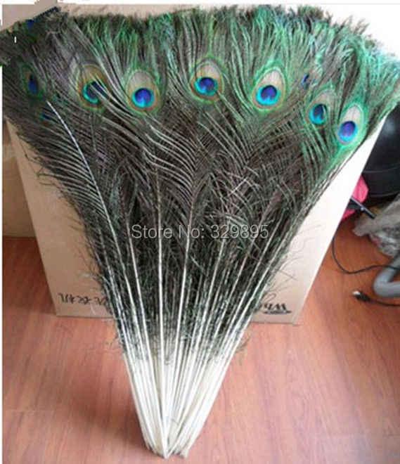 Gros 50 pcs 70-80 cm/80-90 cm naturel paon queue Plume belle paon plumes yeux pour bricolage vêtements montrent la décoration