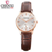 CHENXI Brand Simple Classic Women Watch Fashion Casual Quartz Wristwatch Female High Quality Leather Ladies Watches Date Clock