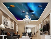 Custom Photo 3d Ceiling Murals Wall Paper Star In The Solar System Decor Painting 3d Wall
