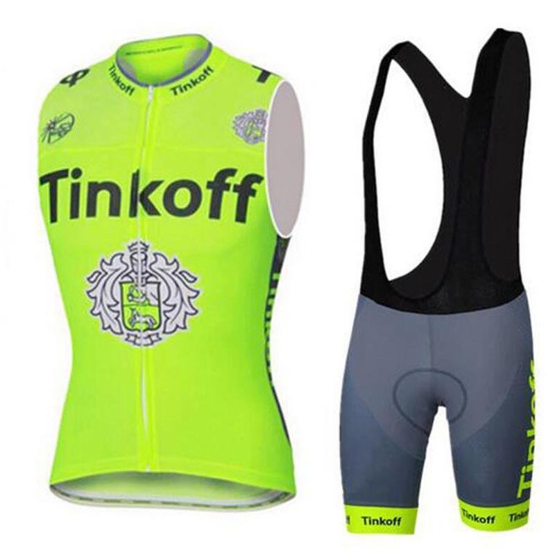 Maillot ciclismo hombre Sleeveless Cycling Jersey set/Summer Bicycle MTB Bike Cycling Clothing/bicycle cycle vest Ropa Ciclismo tinkoff saxo bank cycling jersey ropa clismo hombre abbigliamento ciclismo men s cycling clothing mtb bike maillot ciclismo d001